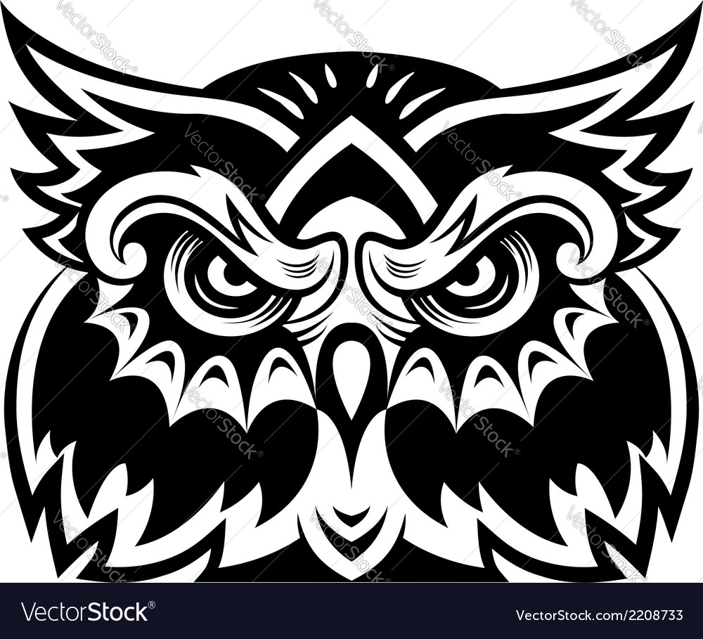 Owl mascot vector | Price: 1 Credit (USD $1)