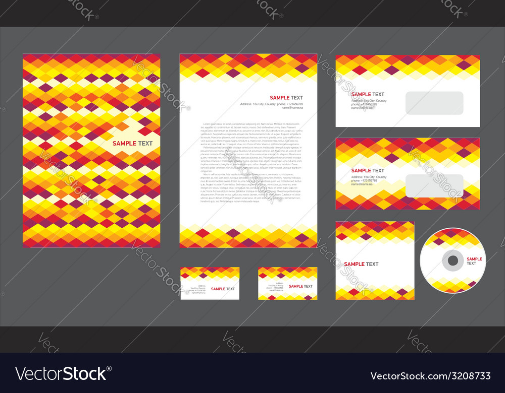 Professional corporate identity vector | Price: 1 Credit (USD $1)