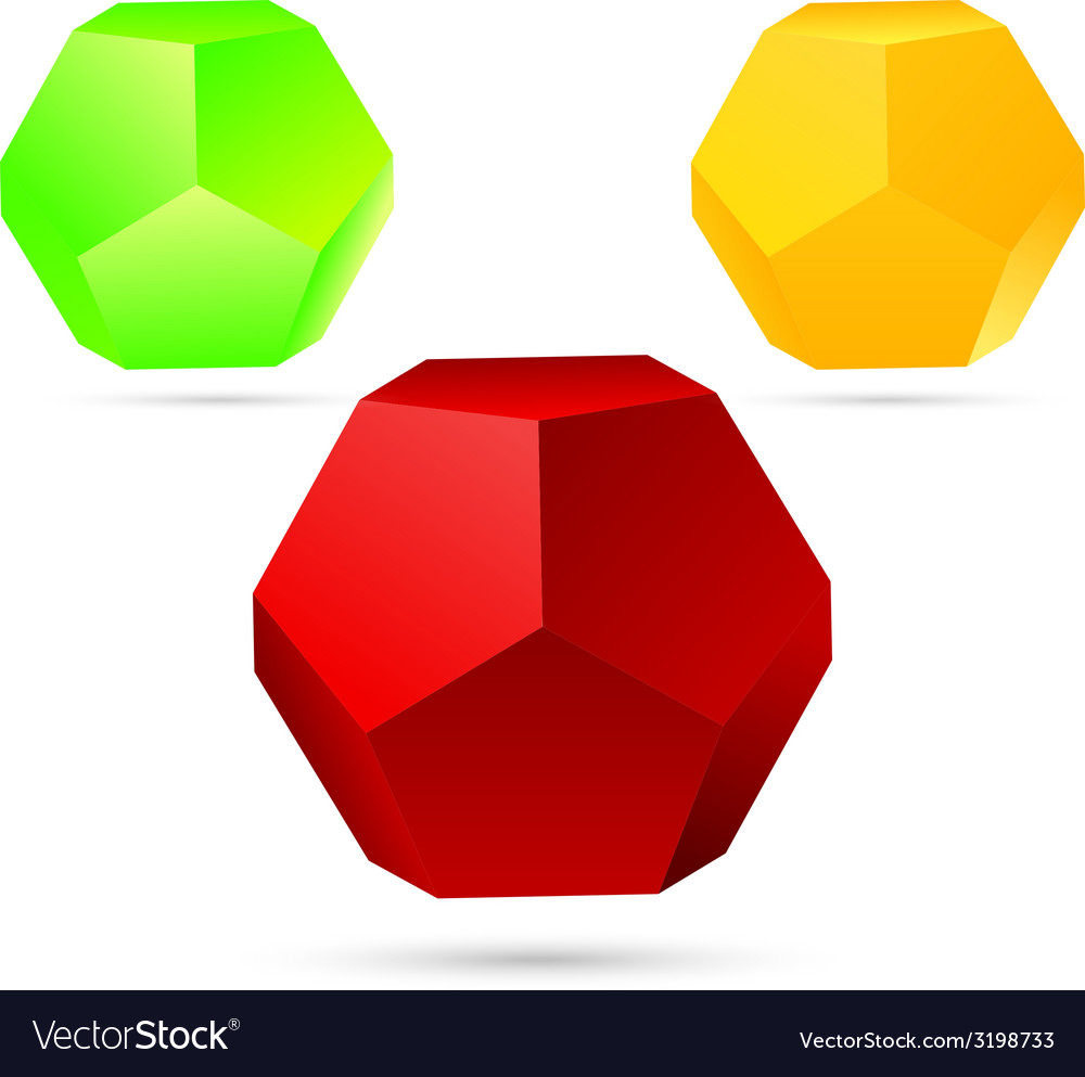 Set of dodecahedron vector | Price: 1 Credit (USD $1)