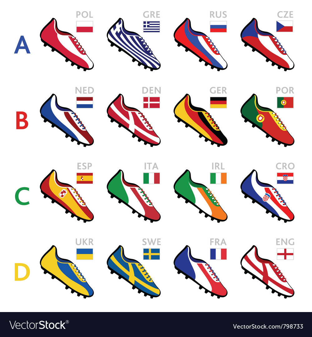 Soccer team shoes vector | Price: 3 Credit (USD $3)