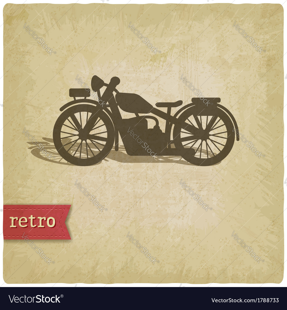 Vintage background with motorcycle vector | Price: 1 Credit (USD $1)