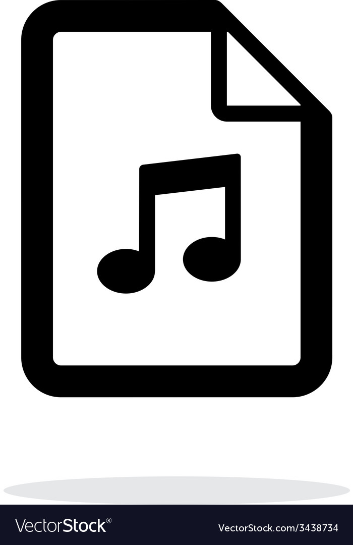 Audio file icon on white background vector | Price: 1 Credit (USD $1)