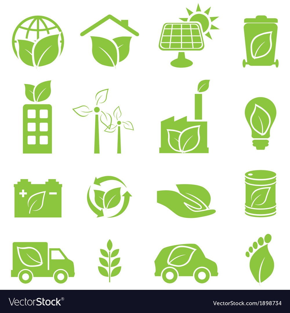 Eco friendly and environmental icons vector | Price: 1 Credit (USD $1)