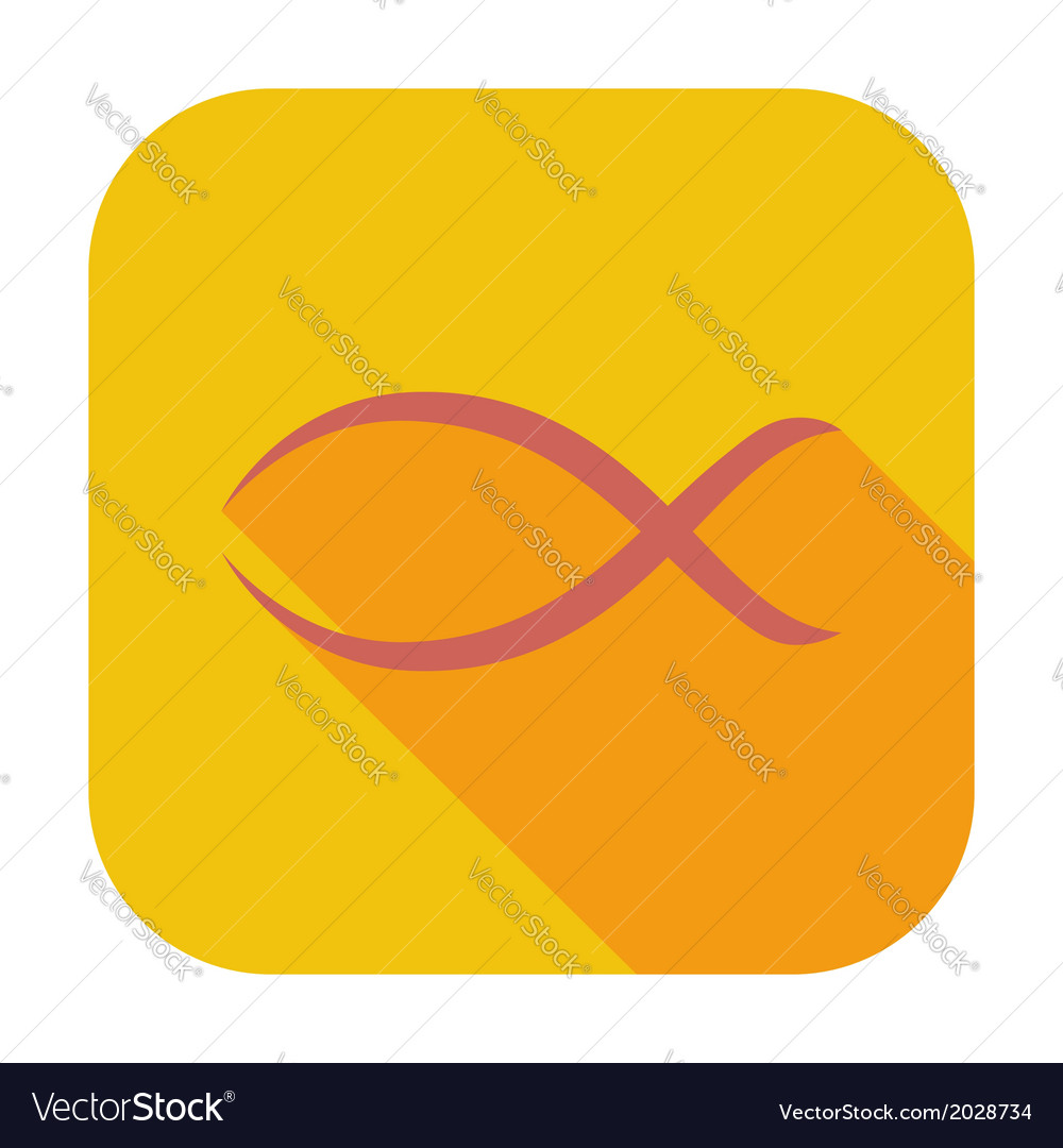 Fish single icon vector | Price: 1 Credit (USD $1)