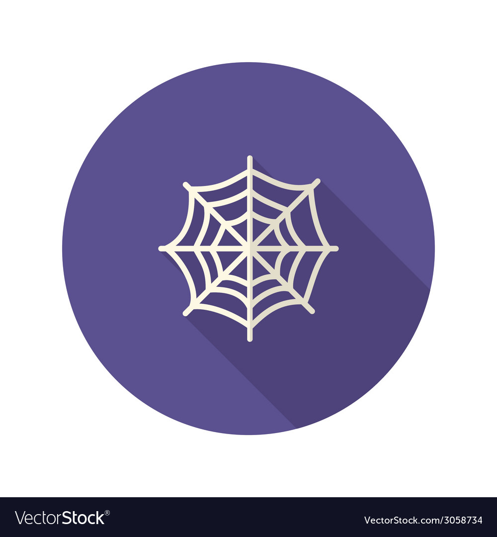 Halloween spiderweb flat icon vector | Price: 1 Credit (USD $1)