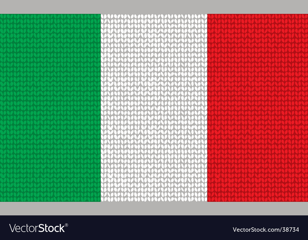 Knitted italian flag vector | Price: 1 Credit (USD $1)