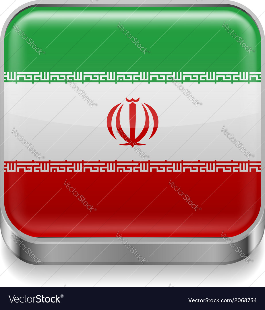 Metal icon of iran vector | Price: 1 Credit (USD $1)