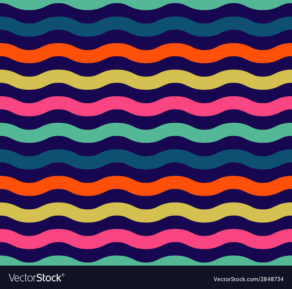 Seamless colorful wave pattern vector | Price: 1 Credit (USD $1)