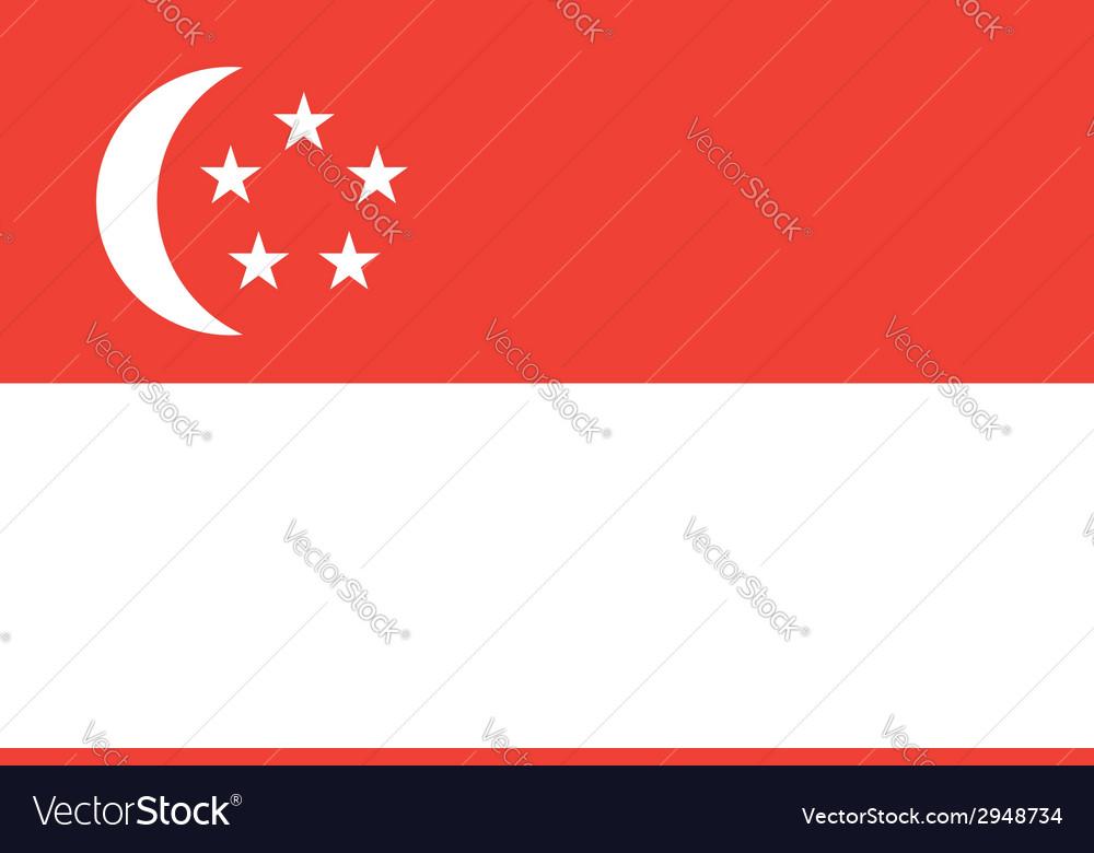 Singapore flag vector | Price: 1 Credit (USD $1)