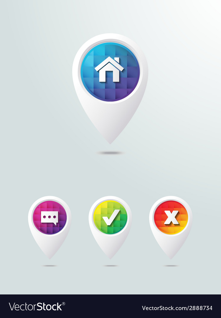 Web icon elements arrows with buttons vector | Price: 1 Credit (USD $1)