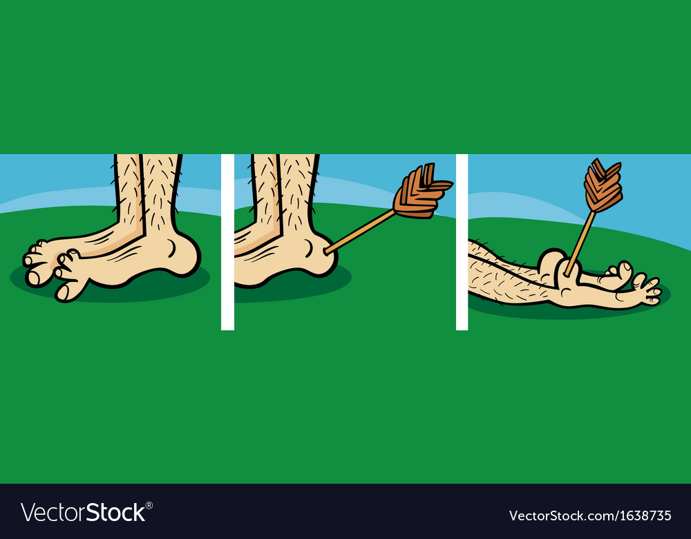 Achilles heel cartoon vector | Price: 1 Credit (USD $1)