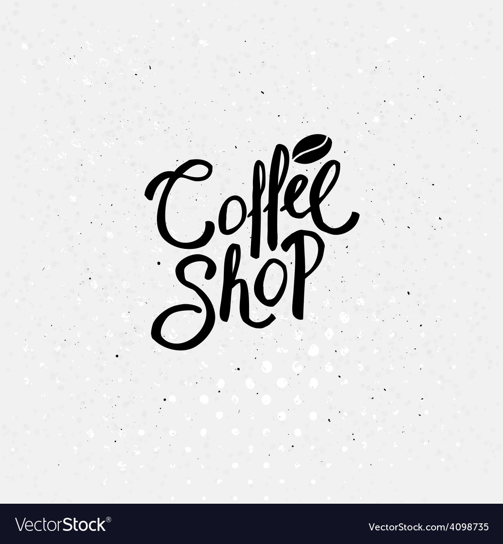 Black text design for coffee shop concept vector | Price: 1 Credit (USD $1)