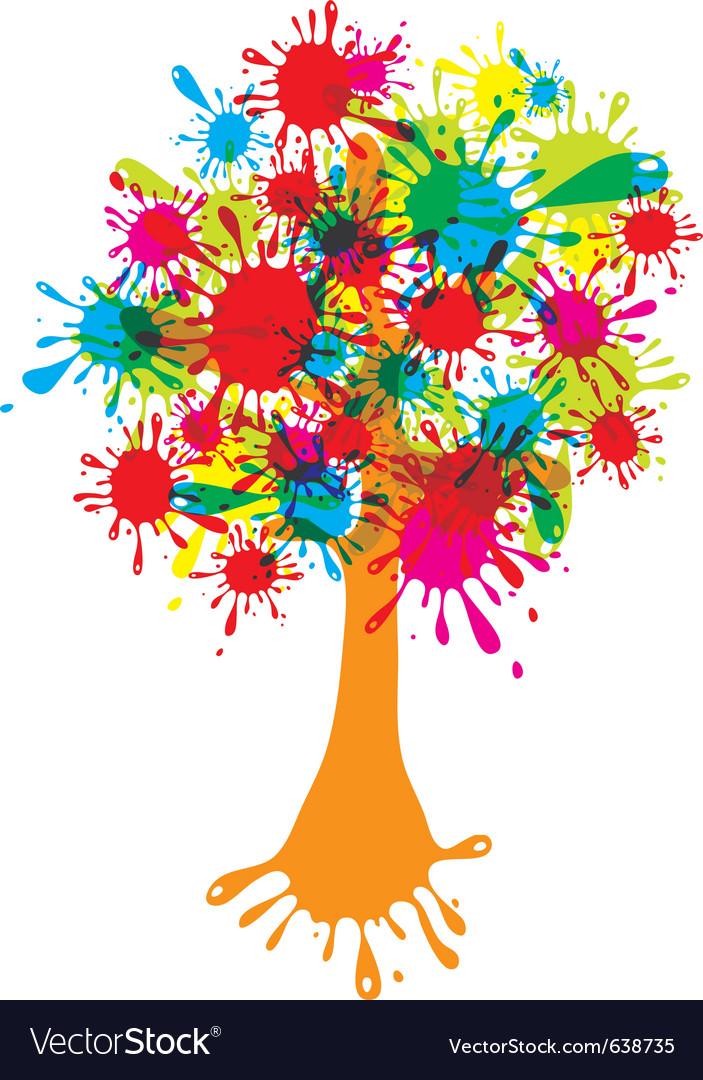 Blot abstract tree vector | Price: 1 Credit (USD $1)