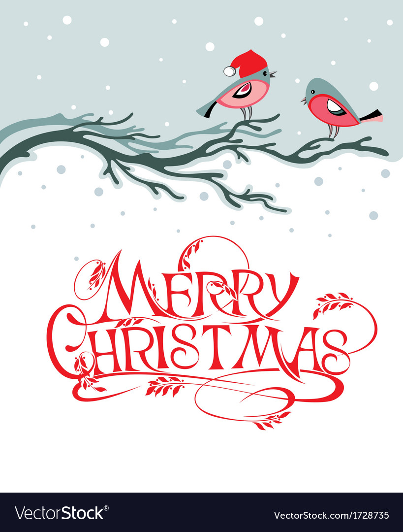 Christmas background with birds vector | Price: 1 Credit (USD $1)
