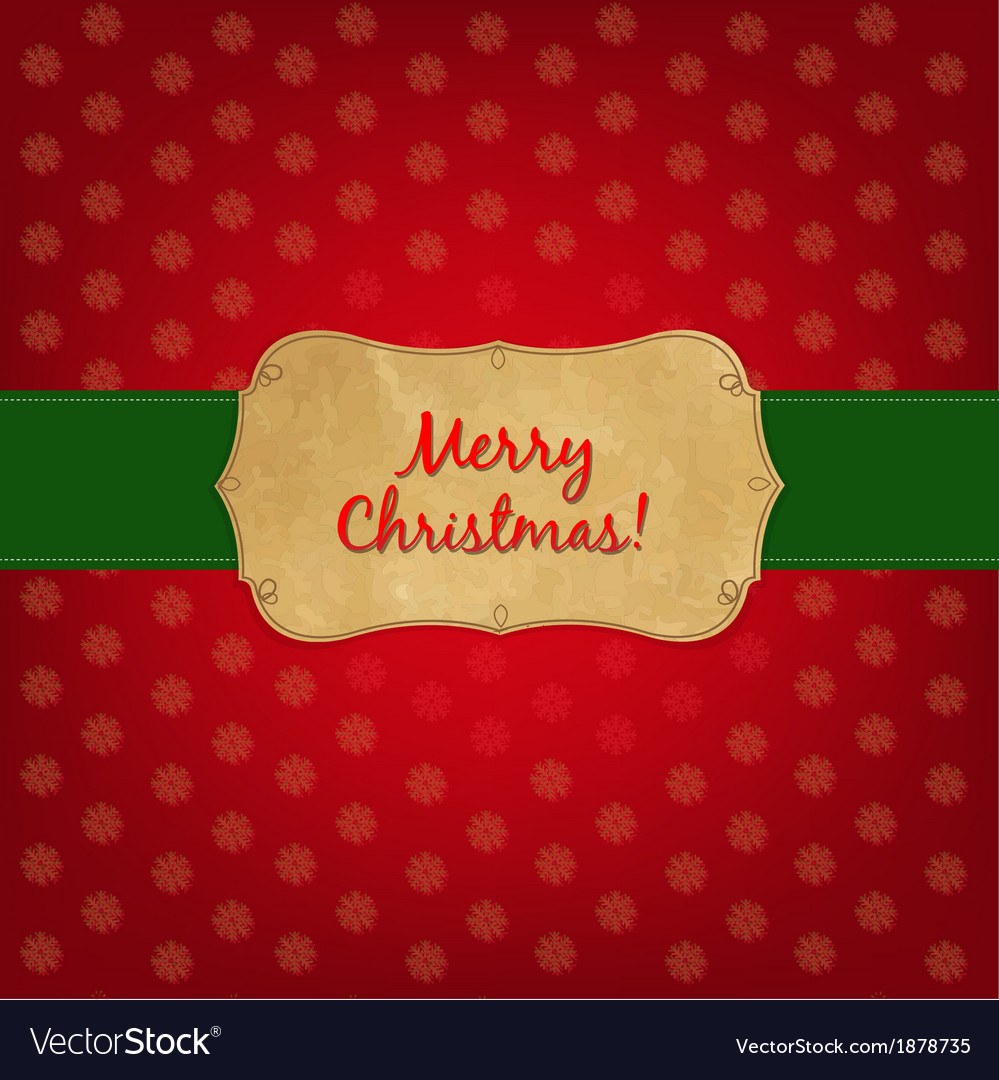 Christmas old label vector | Price: 1 Credit (USD $1)