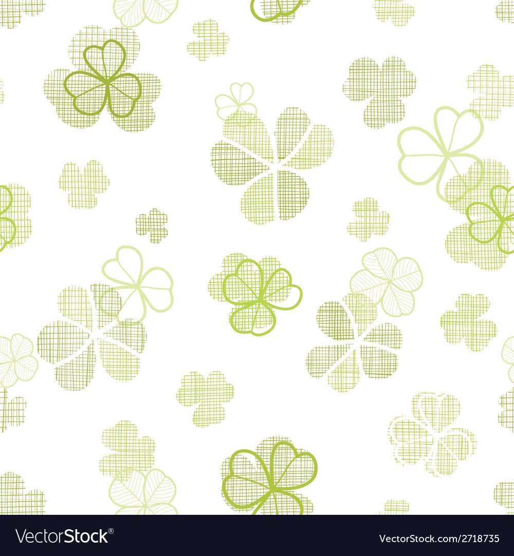 Clover textile textured line art seamless pattern vector | Price: 1 Credit (USD $1)