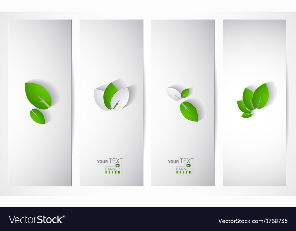 Four headers vector | Price: 1 Credit (USD $1)