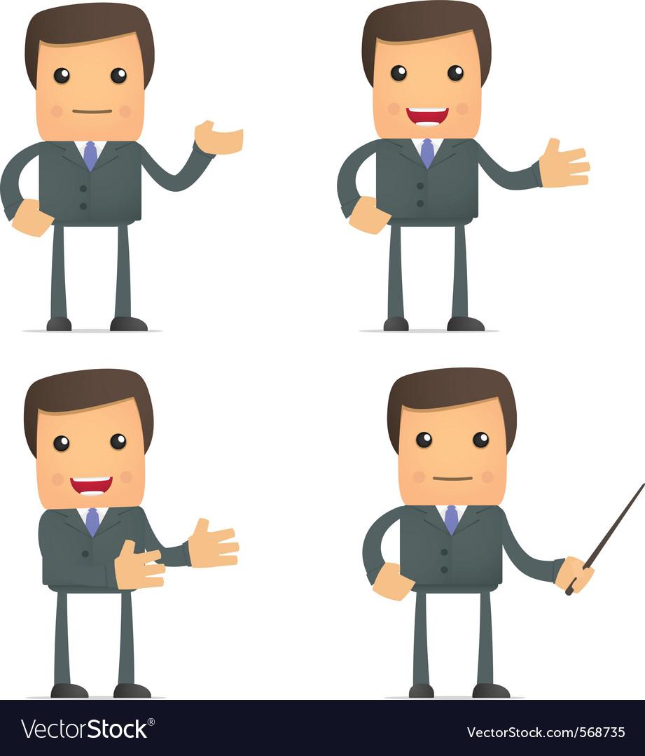 Funny cartoon businessman vector | Price: 1 Credit (USD $1)