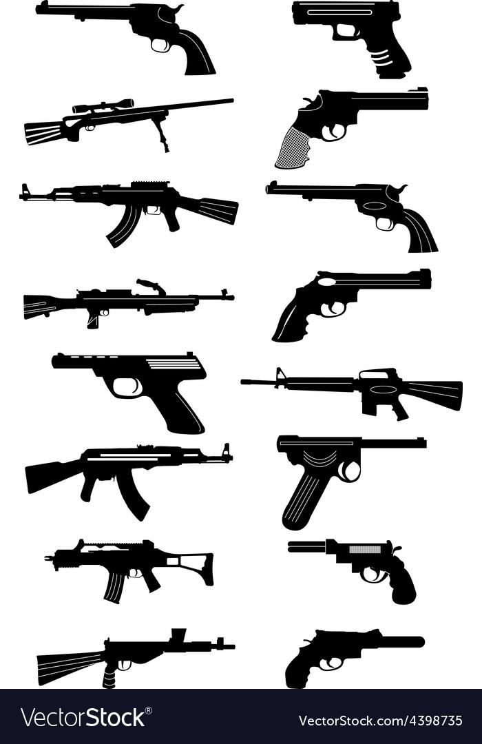 Guns icons set vector | Price: 3 Credit (USD $3)