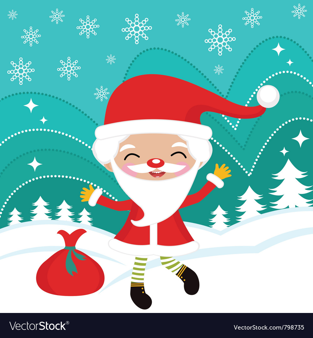 Happy dancing santa vector | Price: 3 Credit (USD $3)
