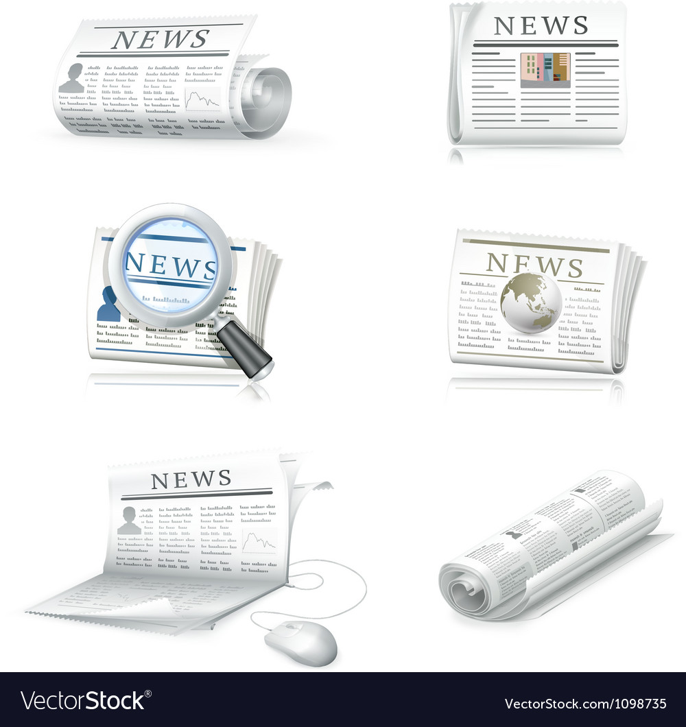 Newspaper collection vector | Price: 1 Credit (USD $1)