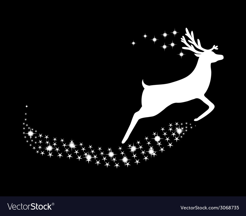 Reindeer with stars and glitter vector | Price: 1 Credit (USD $1)