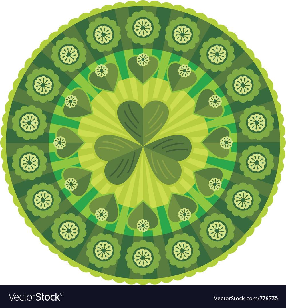 St patricks day badge pattern vector   Price: 1 Credit (USD $1)
