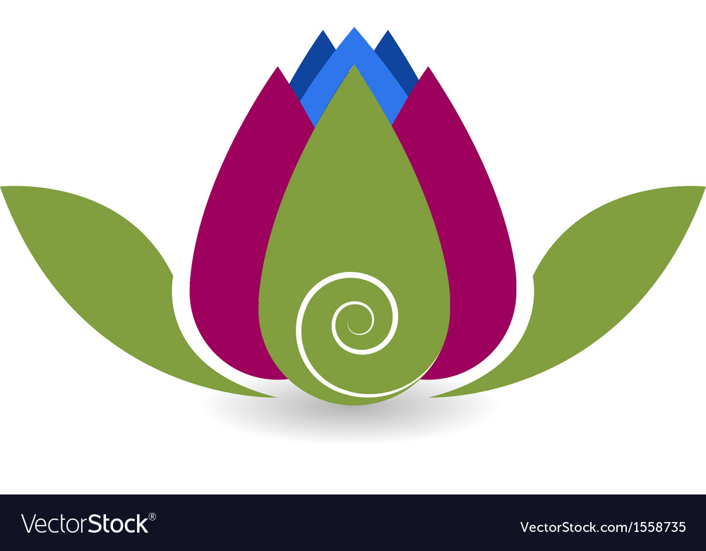 Swirly lotus flower yoga meditation vector | Price: 1 Credit (USD $1)