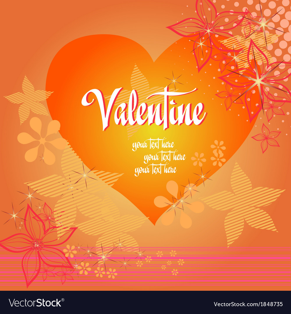 Valentine love heart background vector | Price: 1 Credit (USD $1)