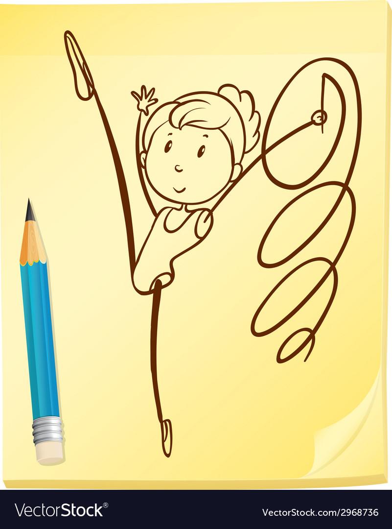 A simple drawing of a gymnast vector | Price: 1 Credit (USD $1)