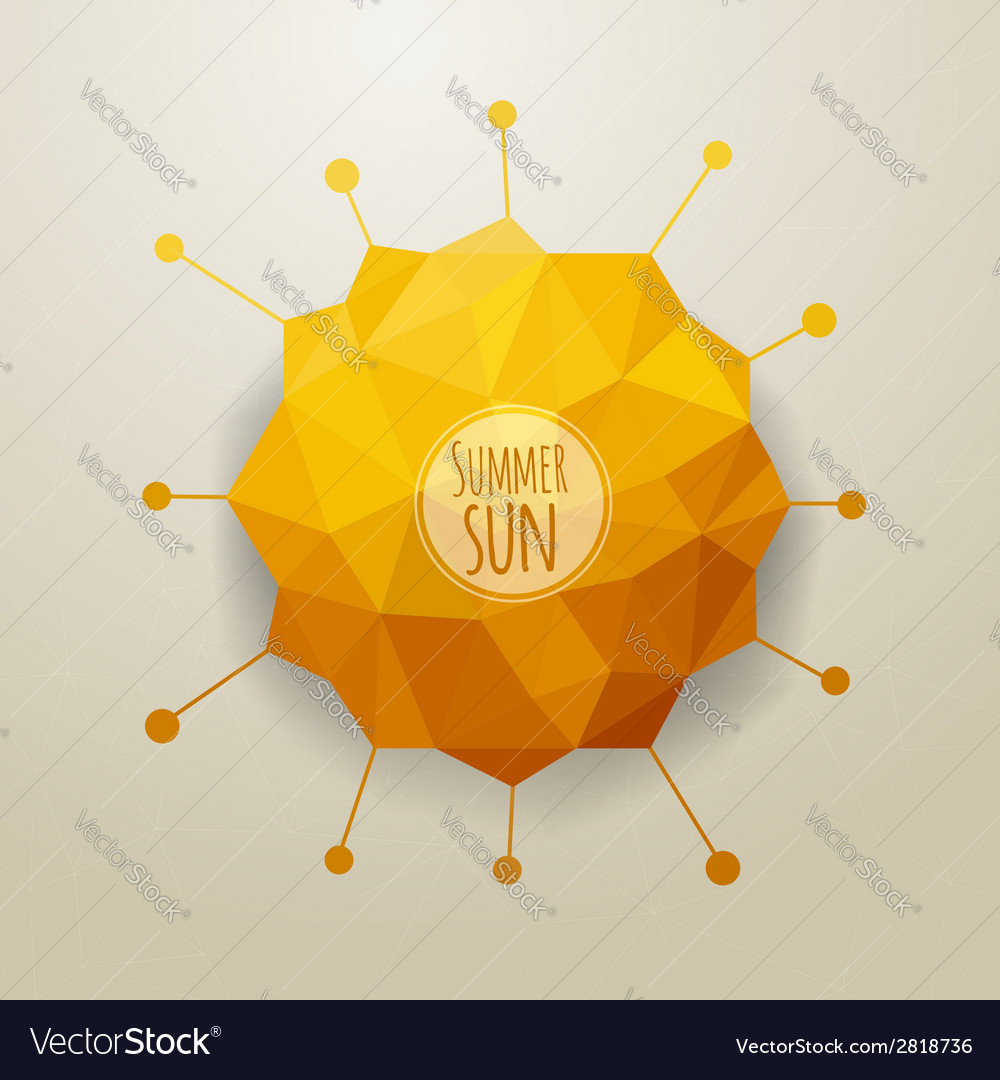 Abstract triangle summer sun vector | Price: 1 Credit (USD $1)