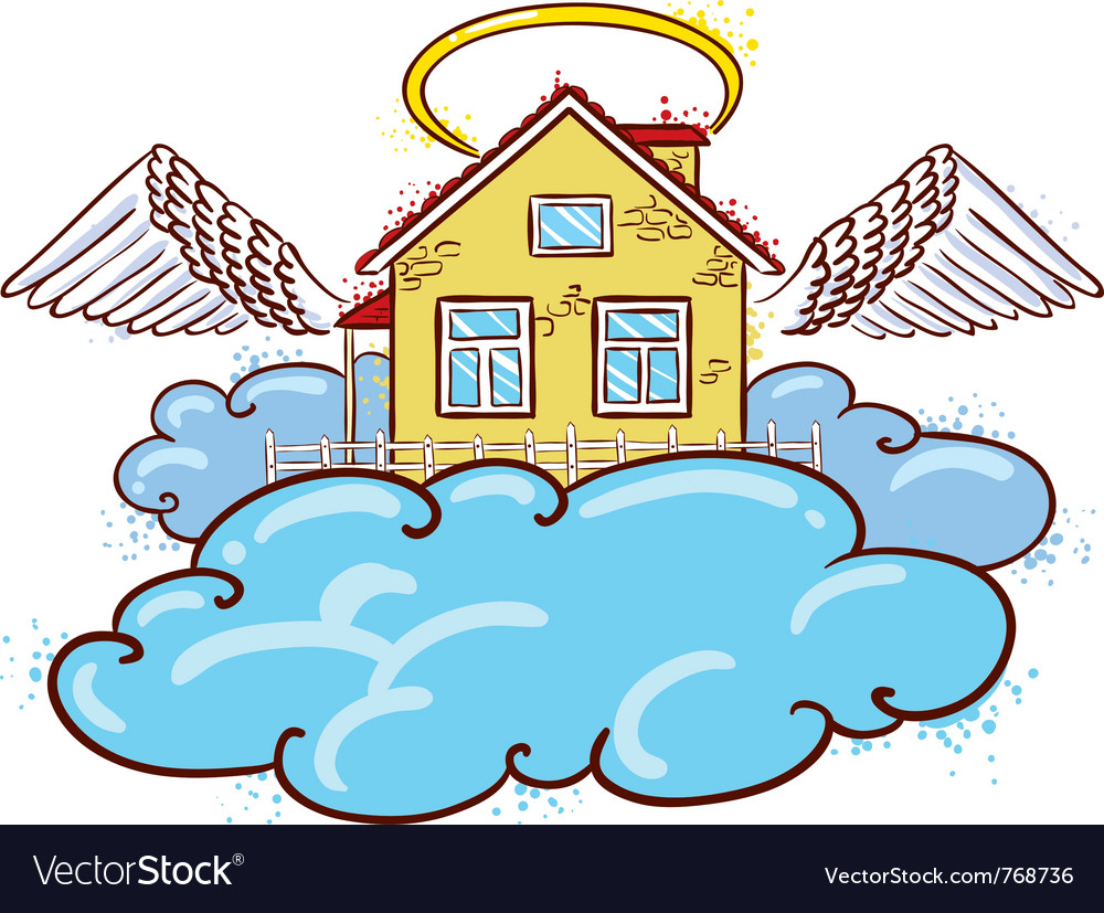 Angel house color version vector | Price: 1 Credit (USD $1)