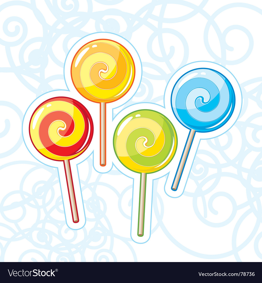 Four lollipops vector | Price: 1 Credit (USD $1)