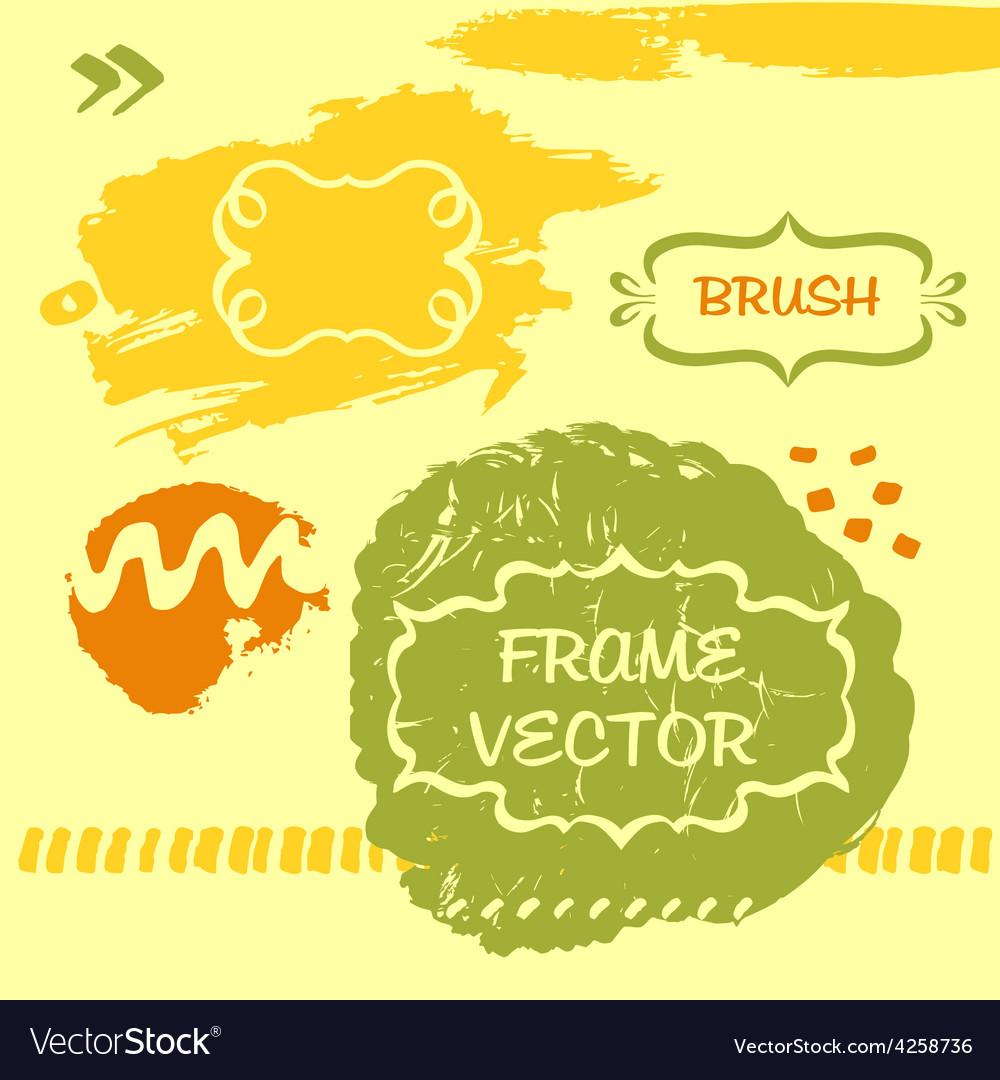 Grungy background and frame vector | Price: 1 Credit (USD $1)