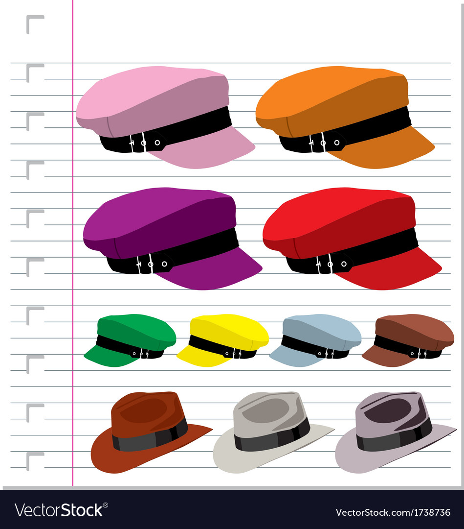 Hat isolated on paper vector | Price: 1 Credit (USD $1)