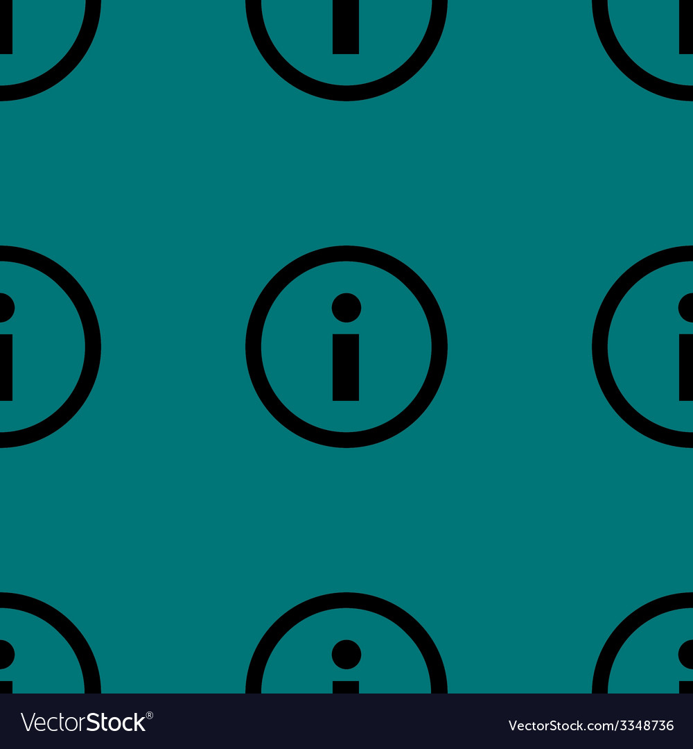 Info web icon flat design seamless pattern vector | Price: 1 Credit (USD $1)