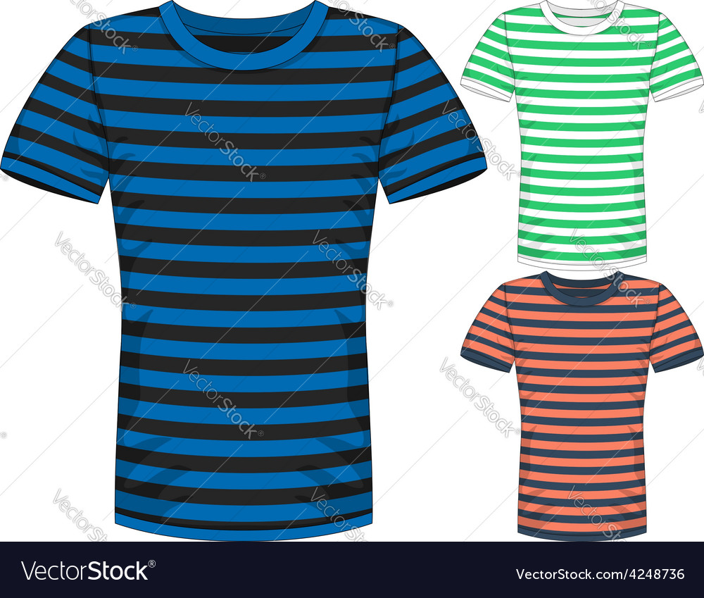 Mens short sleeve t-shirt design templates vector | Price: 1 Credit (USD $1)