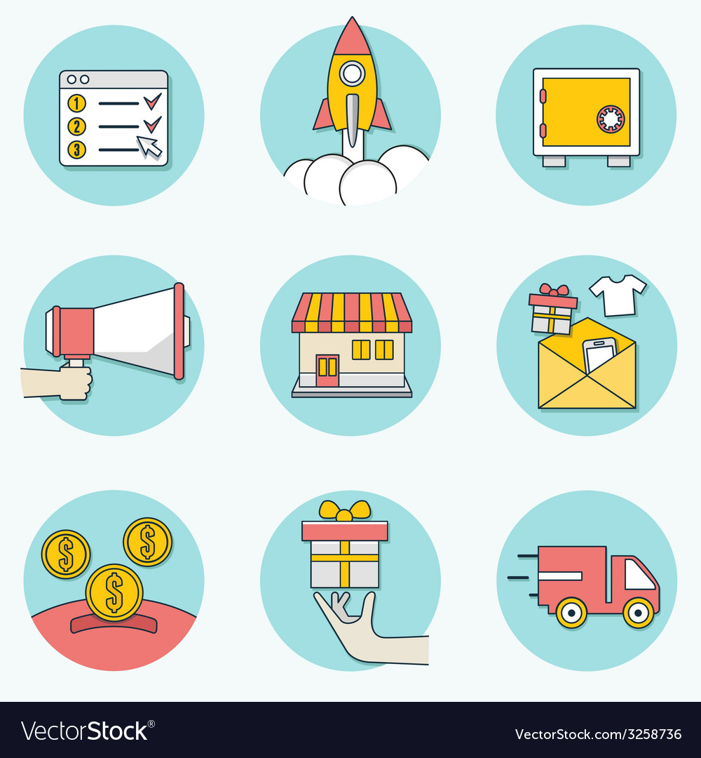 Set of business icons - part 2 vector | Price: 1 Credit (USD $1)