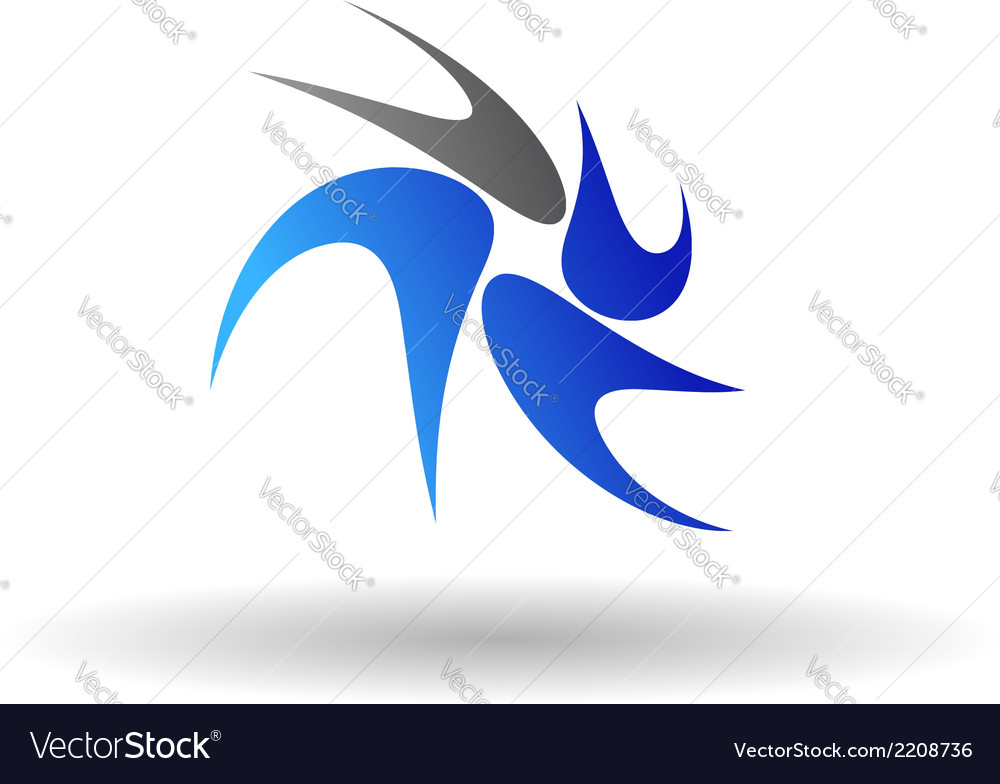 Swirl abstract symbol vector | Price: 1 Credit (USD $1)