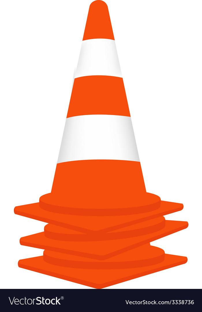Traffic cones set vector | Price: 1 Credit (USD $1)