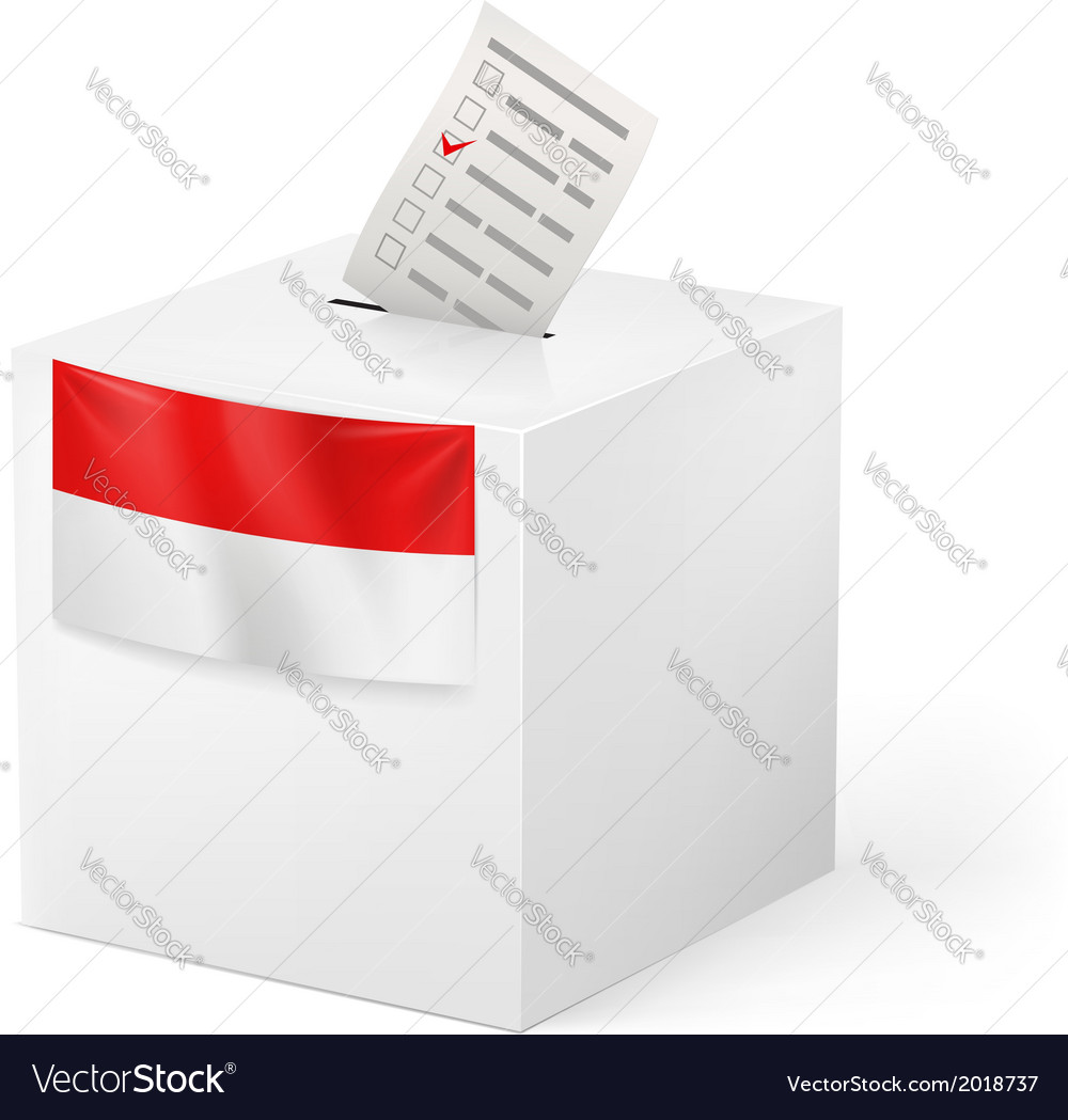 Ballot box with voting paper monaco vector | Price: 1 Credit (USD $1)