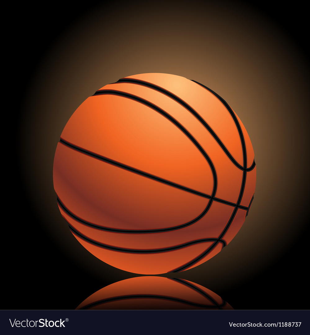 Basketball on black vector | Price: 3 Credit (USD $3)
