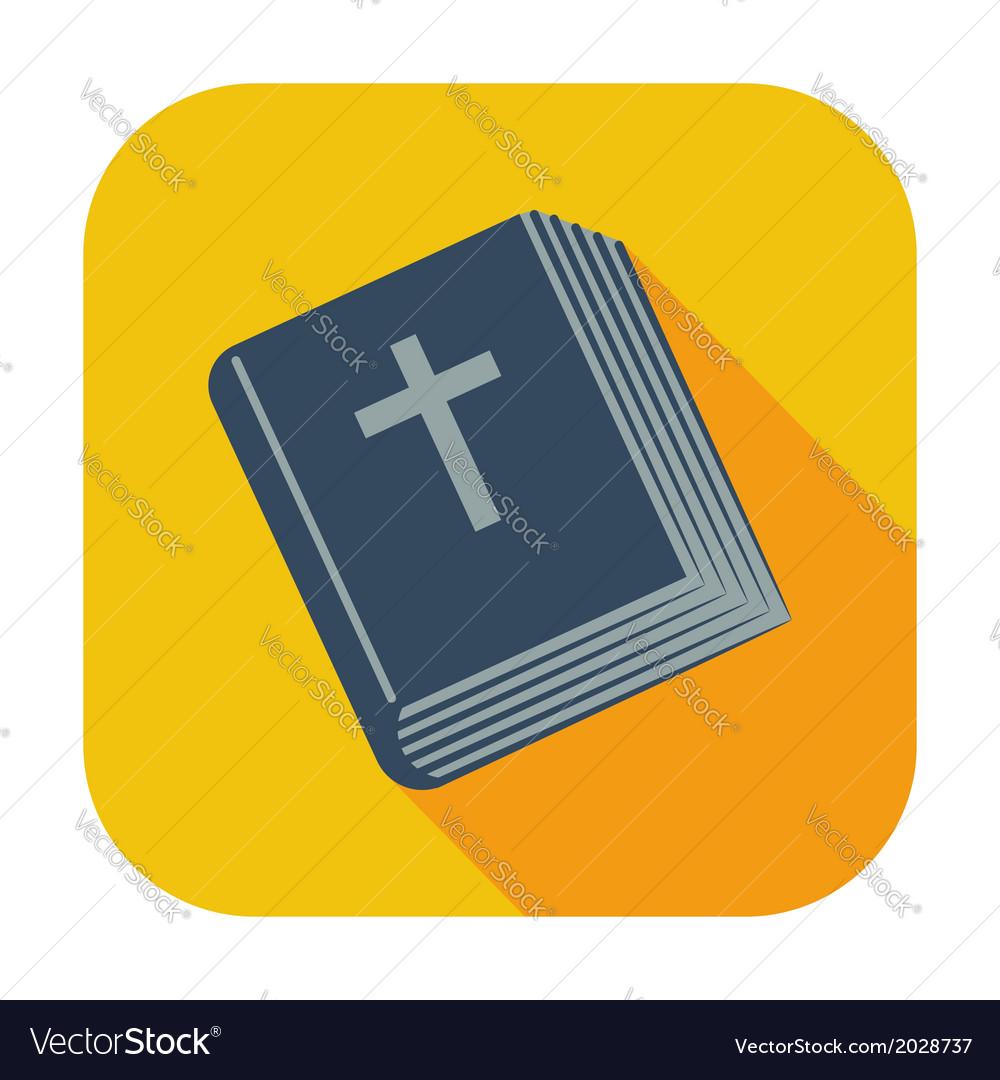 Bible single icon vector | Price: 1 Credit (USD $1)