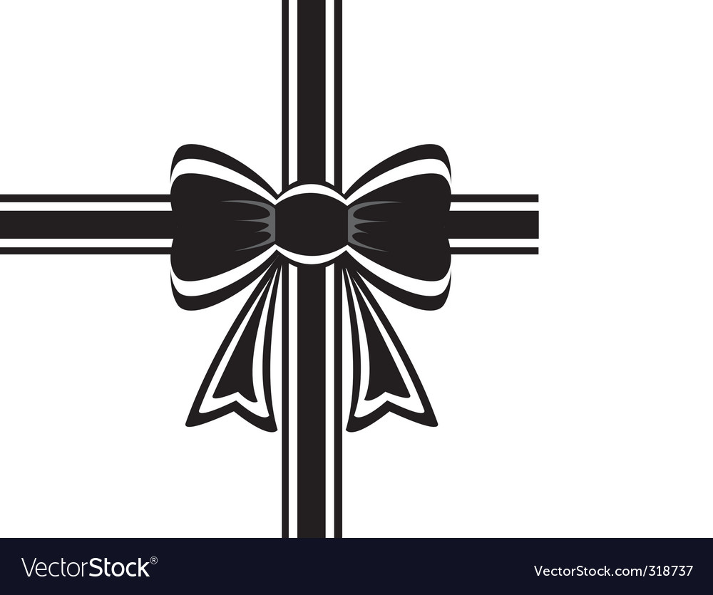 Black ribbon vector | Price: 1 Credit (USD $1)