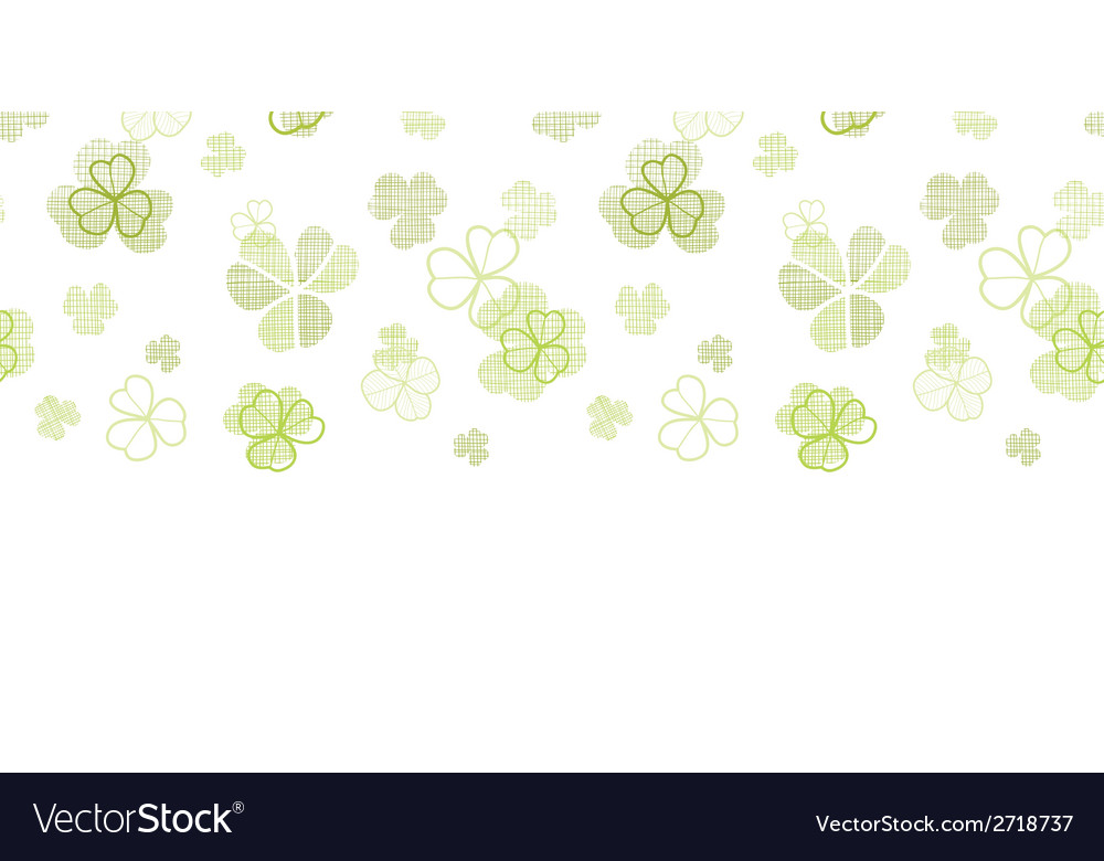 Clover textile textured line art horizontal vector | Price: 1 Credit (USD $1)