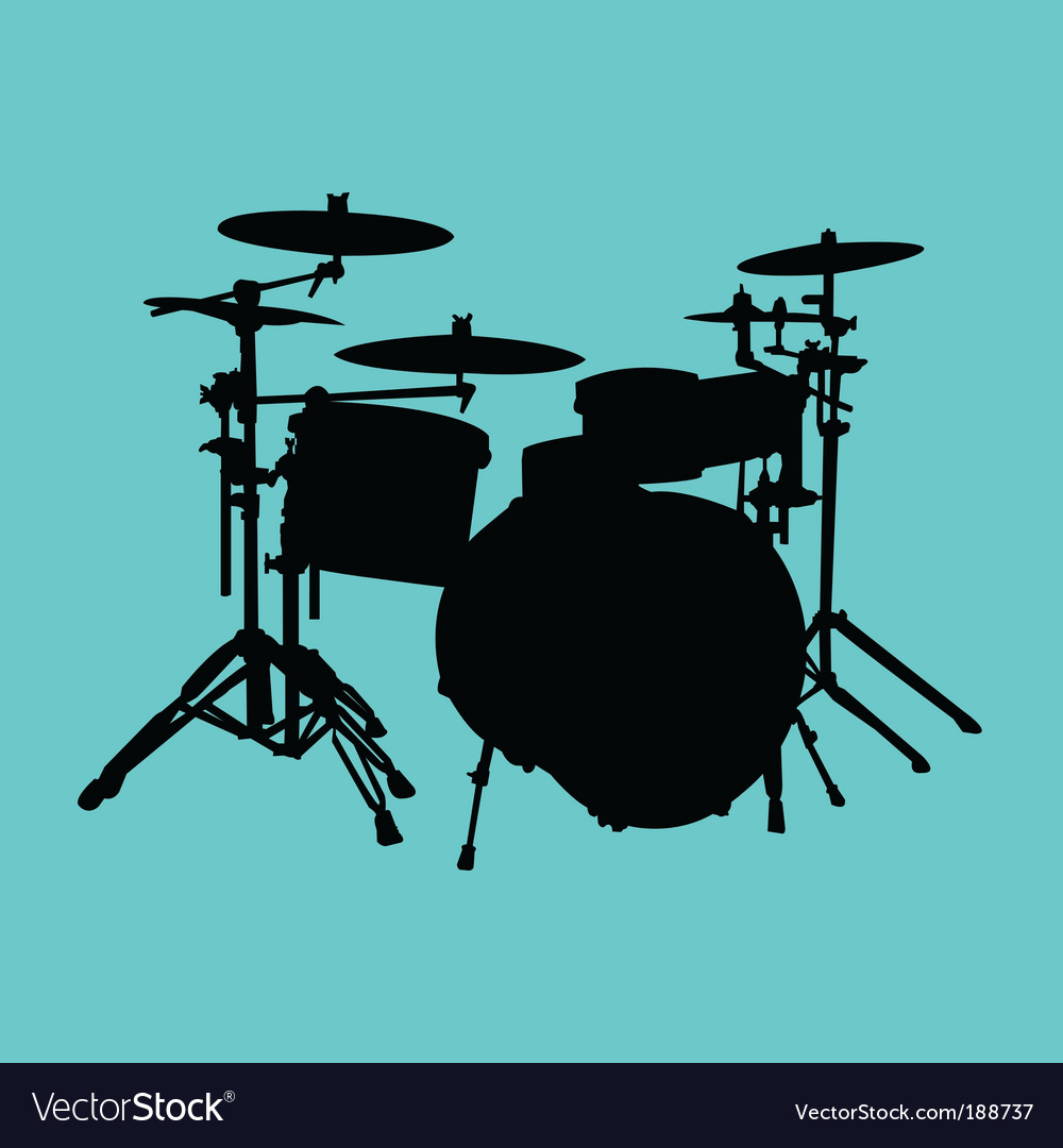 Drum kit vector | Price: 1 Credit (USD $1)