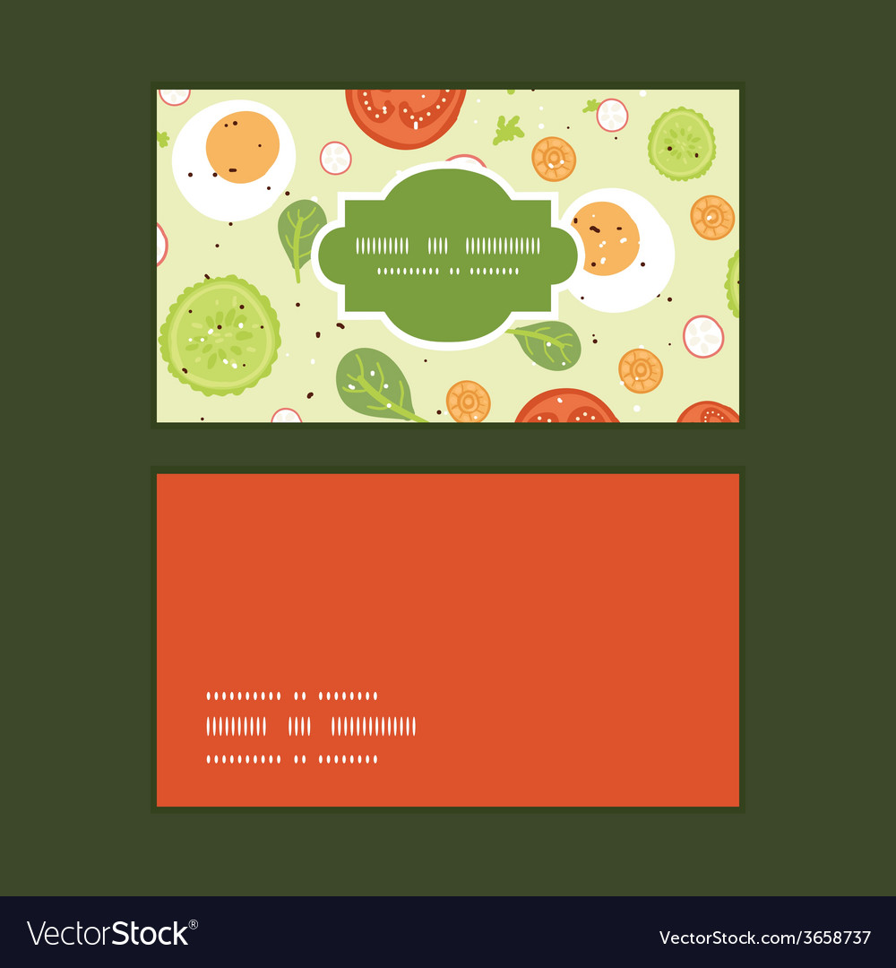 Fresh salad horizontal frame pattern business vector | Price: 1 Credit (USD $1)