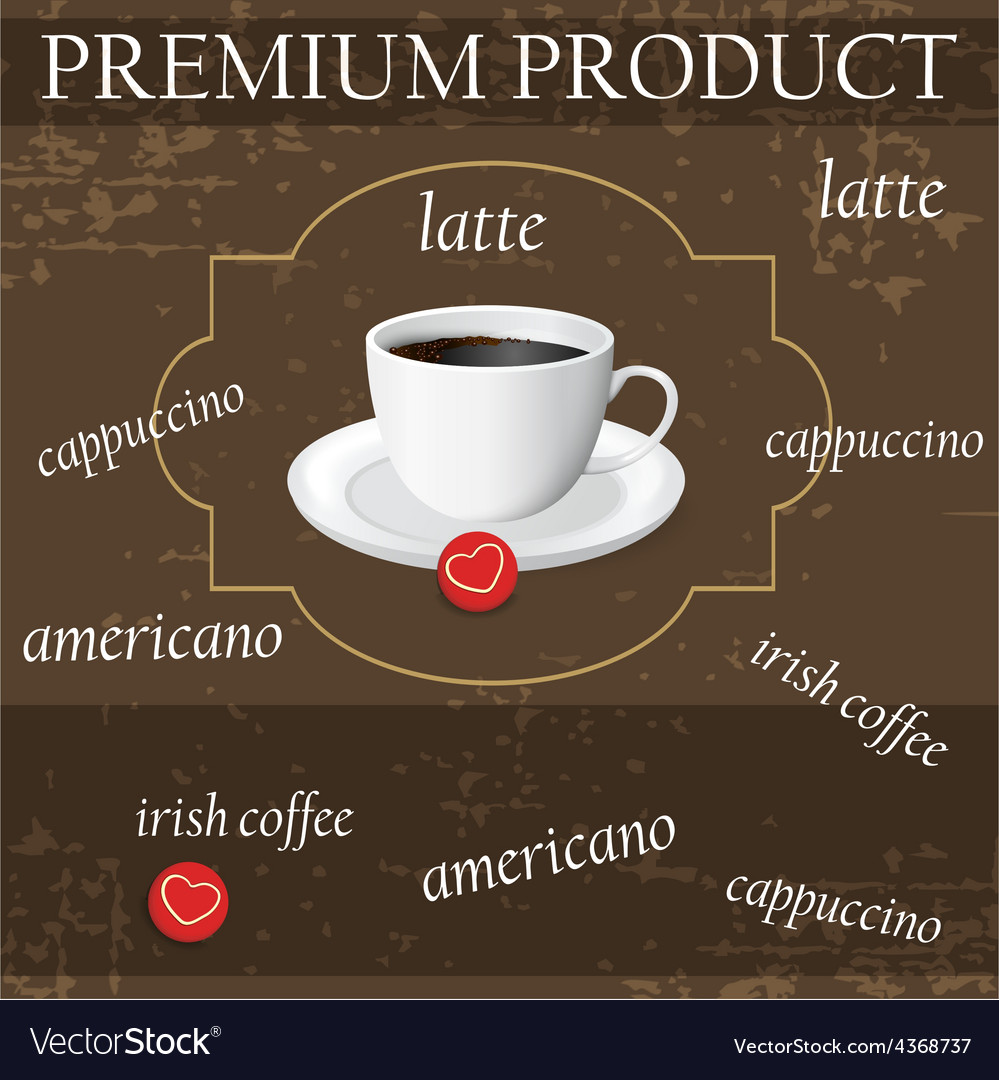 Menu for coffee in vintage vector | Price: 1 Credit (USD $1)