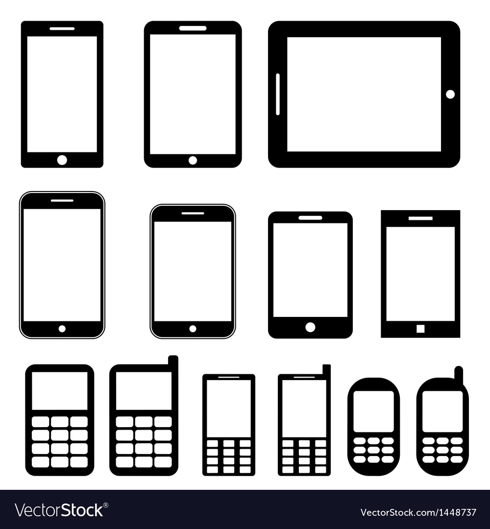 Mobile phones and tablets set vector   Price: 1 Credit (USD $1)