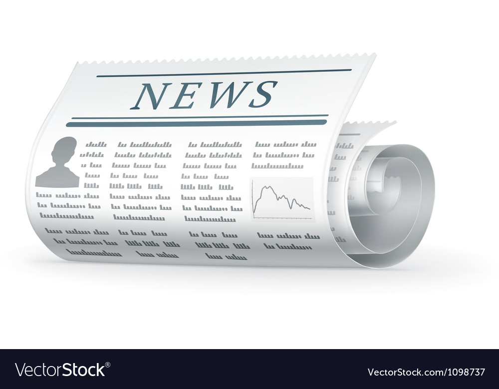 Newspaper rolled vector | Price: 1 Credit (USD $1)